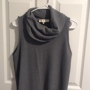Gray Cowl Neck Sweater Tank